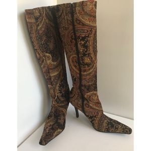 Paisley Knee- Hi Fashion Boots